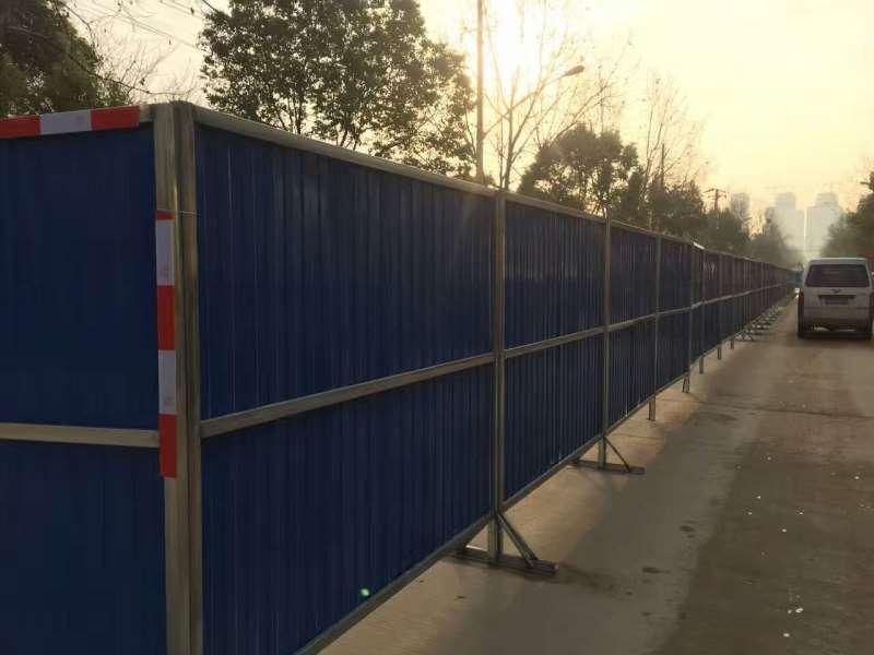pvc材质的围挡施工做法